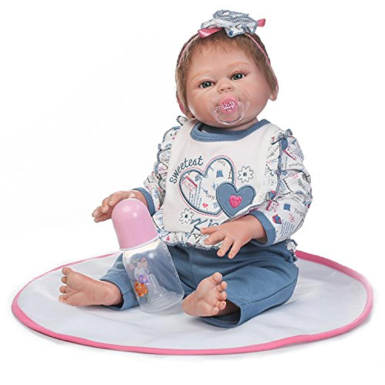 Pursue Baby Lifelike Poseableベビーガール人形、20インチハードビニールフルボディリアルな新生児赤ちゃんwithおしゃぶり
