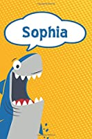"""Sophia: Personalized Shark Draw and Write Diary journal notebook featuring 120 pages 6""""x9"""""""