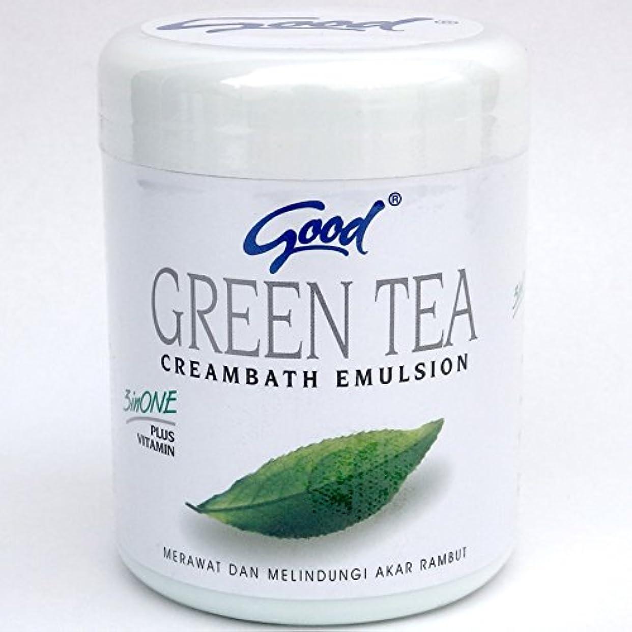試み民間人可塑性good グッド インドネシアバリ島の伝統的なヘッドスパクリーム Creambath Emulsion クリームバス エマルション 680g GreenTea グリーンティー [海外直送品]