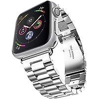 Apple Watch 金属ベルト Evershop 42mm 38mm ステンレス ベルト ビジネス風 時計バンド 腕時計ストラップ series 1 series 2 series 3 対応(銀) apple watch バンド apple watch3 バンド