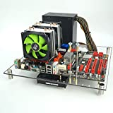 DIY Acrylic Glass Gaming Computer Case Chassis Open Frame Panoramic Viewing Creative Personality ATX Transparent Chassis Test