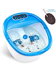 フォットスパ マッサージャー Ivation Foot Spa Massager - Heated Bath, Automatic Massage Rollers, Vibration, Bubbles, Digital...