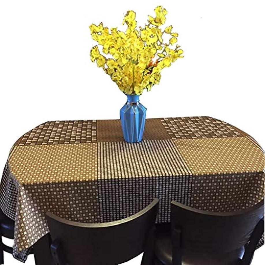 顕微鏡教師の日受け皿テーブルクロス長方形格子縞テーブルマット多用途田園風テーブルマット,洗える家庭用、屋外用 ズ選択可能 テーブルカバー (Color : A, Size : 120*140cm)