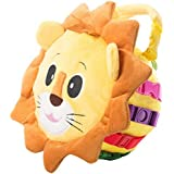Buckle Toy - Benny Lion - Sensory Activity Toy - Fine Motor Skill and Cognitive Skill Development - Zipper Storage for Small