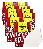 カリタ Kalita コーヒーフィルター 102濾紙 箱入り 2~4人用 40枚入り×10箱セット ホワイト #13039
