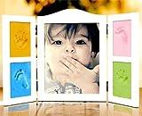 Amazon.co.jp手形 足形 一緒に飾れる フォトフレーム 一生 思い出 赤ちゃん 出産 祝い 写真 フレーム 粘土 Photoフレーム