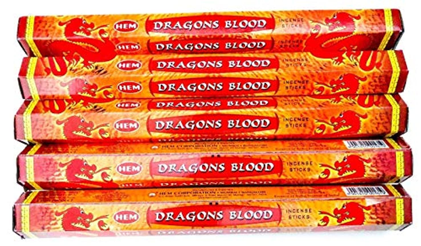 微生物電信先にDragon 's Blood 100 Incense Sticks (5 x 20スティックパック)