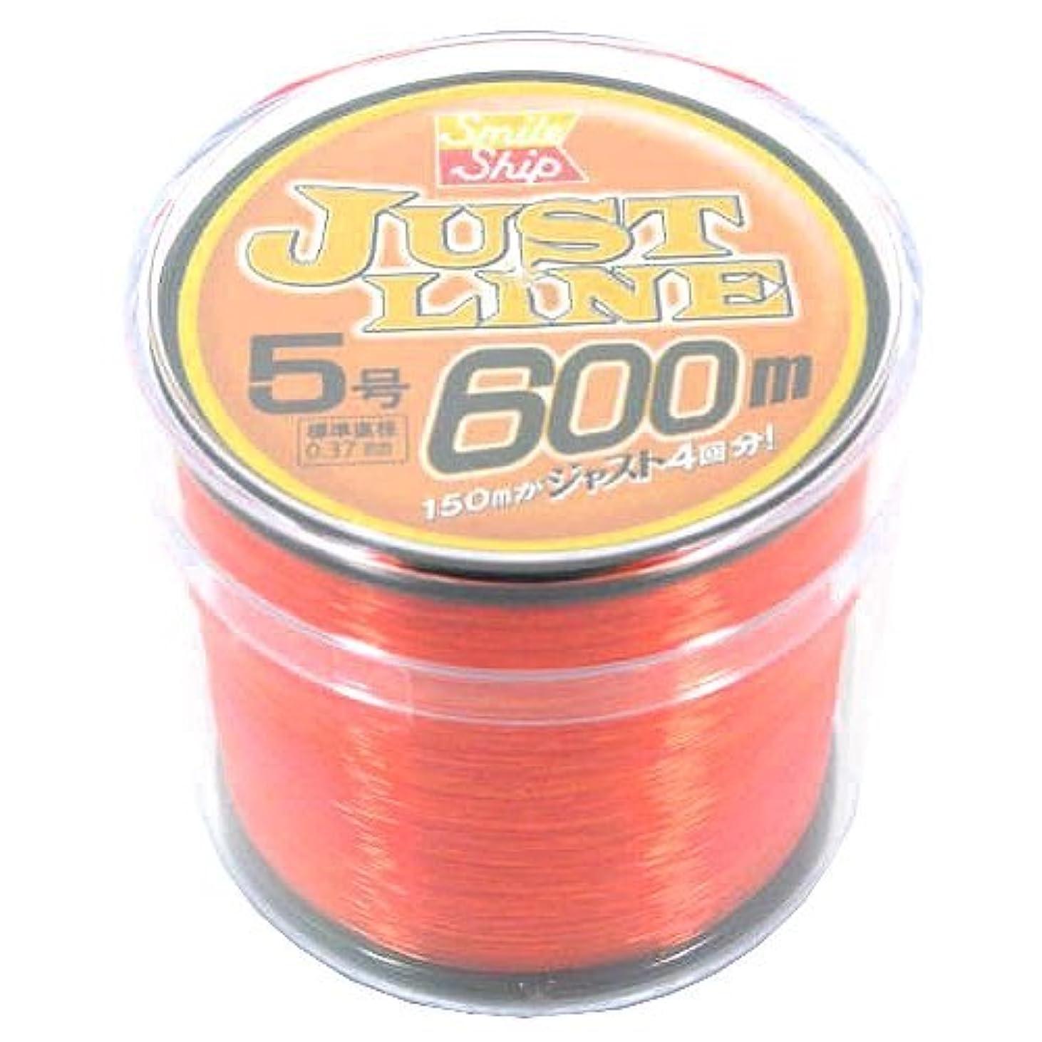 ペンスバンジョー知的TAKAMIYA(タカミヤ) ライン SmileShip ジャストライン 600m オレンジ 5号