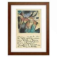 フランツ・マルク Franz Marc 「Fox and gazelle.」 額装アート作品