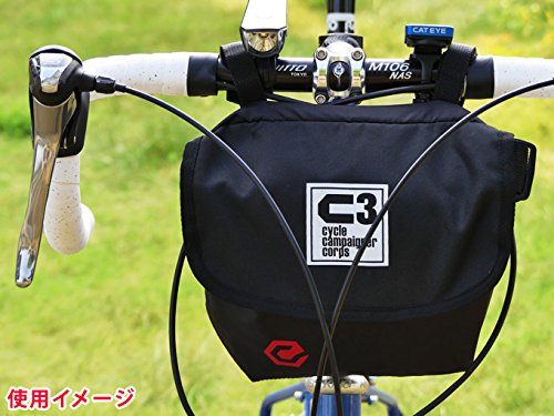 C3(サイクルキャンペイナーコープス) 自転車用フロントバッグ シースリーショルダーS(ブラック/レッド)