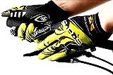 (ハイハイワールド)H-H-W サイクリング グローブ 自転車 手袋 衝撃 吸収 GEL ゲルパッド 付き タッチパネル 対応 YM(21.M イエロー)