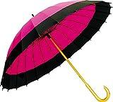 サントス 和傘 60cm 二十四本骨蛇の目風和傘 ピンク JK-01