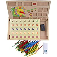 Greensun TMベビーキッズMontessori Wooden ToysデジタルCounting Mathmatic教育算術学習ボックスfor Children Boys Girls