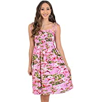 Island Style Clothing Ladies Tube Dress Flamingo Floral Tropical Hawaiian Party Prints Cruisewear