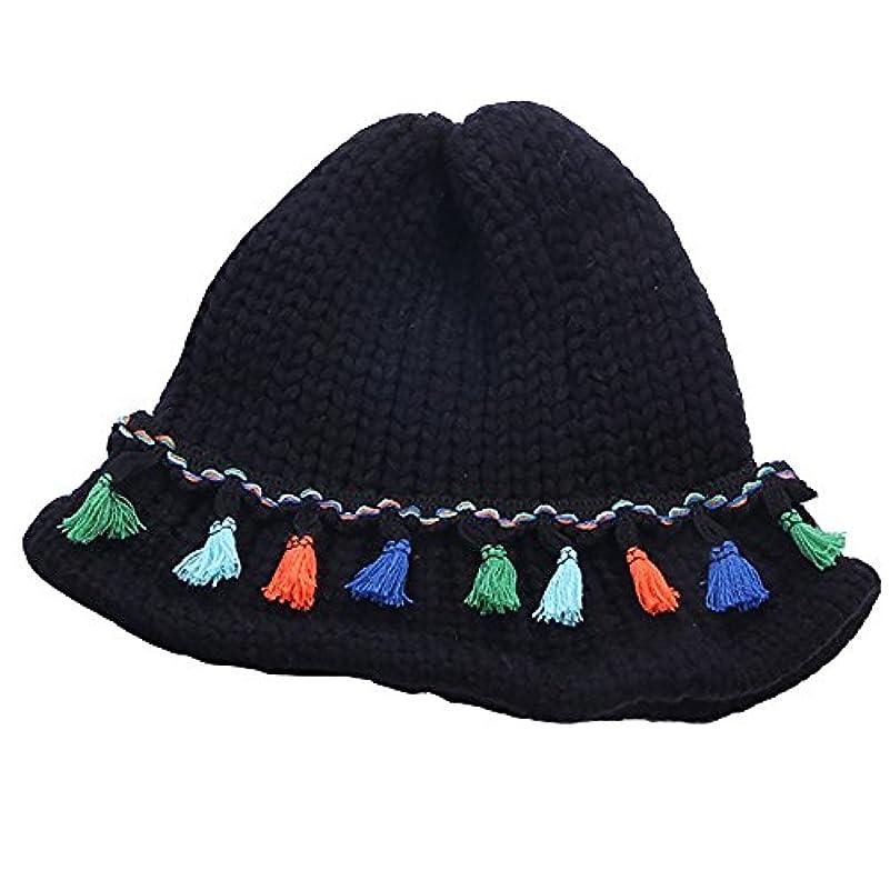動脈守る裁判官HAKN 女性のキャンディーカラーハットニット折り畳み可能なキャップタッセルキャップを増粘する3色が利用可能です