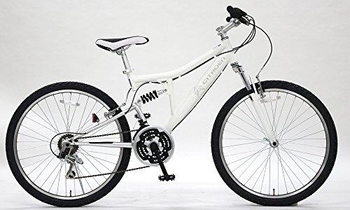 CITROEN(シトロエン) フルサスペンション ATB2618W-sus ホワイト マウンテンバイク 26インチ シマノ製18段変速ギア搭載 前後Vブレーキ採用 Wサスペンション搭載 本格派 65108-1299