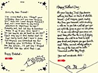 Quiplip Handwritten Yours Truly Birthday Cards 6-Pack (YT07206PCK) [並行輸入品]