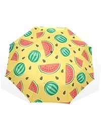 AOMOKI 折り畳み傘 折りたたみ傘 日傘 手開き 三つ折り 晴雨兼用 梅雨対策 UVカット 耐強風 8本骨 男女兼用 スイカ