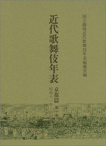 近代歌舞伎年表 京都篇〈第10巻〉昭和十一年~昭和十七年