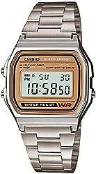 [カシオ]CASIO 腕時計 スタンダードデジタルウォッチ ゴールド文字板 海外モデル 国内メーカー保証付き A-158WEA-9JF