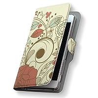 スマートフォン for ジュニア2 SH-03F ケース カバー 手帳型 スマコレ レザー 手帳タイプ 革 SH03F スマホケース スマホカバー ジュニアフラワー 001318 Sharp シャープ docomo ドコモ 花 植物 d-sh03f-001318-nb