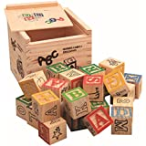SODIAL 27 Pcs Children Wood Alphabet Blocks Letters Stacking Toys Building Blocks Craft Early Learning Educational Toys Baby Room Decor