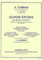 カイエレ : オーボエ又はサクソフォンのための15の練習曲 J.S.BACHの無伴奏ヴァイオリン・ソナタより (オーボエ(もしくはサクソフォン)教則本) ルデュック出版