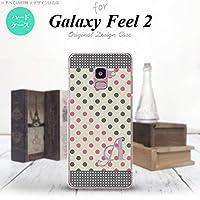 SC-02L Galaxy Feel2 スマホケース カバー ドット・水玉 グレー×ピンク 【対応機種:Galaxy Feel2 SC-02L】【アルファベット [Q]】