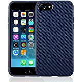 iPhone 7 iPhone 8 & iPhone 7 Plus iPhone 8 Plus Case Adurei iphone Silicone case, Full Protective Anti-Scratch Resistant Cover for Apple iPhone 7 and 7 Plus with Carbon Fiber Pattern (iPhone 7/iPhone 8, Navy Blue)
