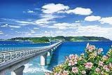 1000ピース ジグソーパズル めざせ!パズルの達人 角島大橋と青い海-山口 (50x75cm)