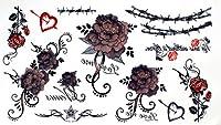 タトゥーシール ローズ バラ 薔薇 薔薇の棘 とげ カラー