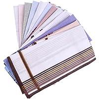MagiDeal 12pieces Men Cotton Square Hankerchief Hanky Wedding Party Handkerchiefs
