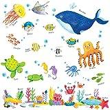 Decowall DW-1311 海の中 海の生き物 ウォール ステッカー ウォールデコ 幼稚園 保育園 子供部屋 リビングルーム ベッドルーム