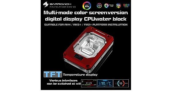 Barrowch AMD RYZEN THREADRIPPER x399 CPU Water Block V2 Red