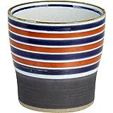 酒 グラス : 有田焼 黒巻ライン 焼酎カップ(赤)