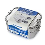 Stainless Steel Bento Lunch Box. 3-In-1 Ecofriendly Durable Bento Box Perfect for Kids and Adults. Holds more than 6 Cups of Food. Leak-Proof Compartment. Stainless Steel Cutlery Included
