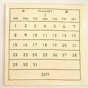 amazon もだ 2017年 basic calendar レフィル cd 3065 カレンダー