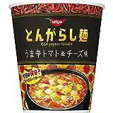 日清 とんがらし麺 うま辛トマト&チーズ味 66g ×12個