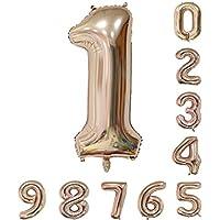 40インチのローズゴールドの数のヘリウム風船(0-9) アラビア数字の誕生日パーティーデコレーション1