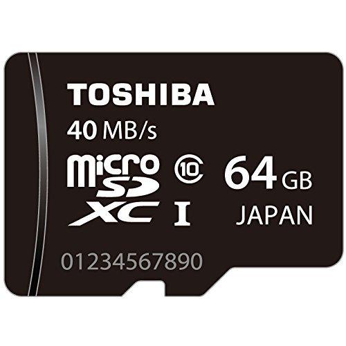 東芝 microSDXC 64GB 超高速Class10 UHS-I 防水 耐X線 TOSHIBA 並行輸入品