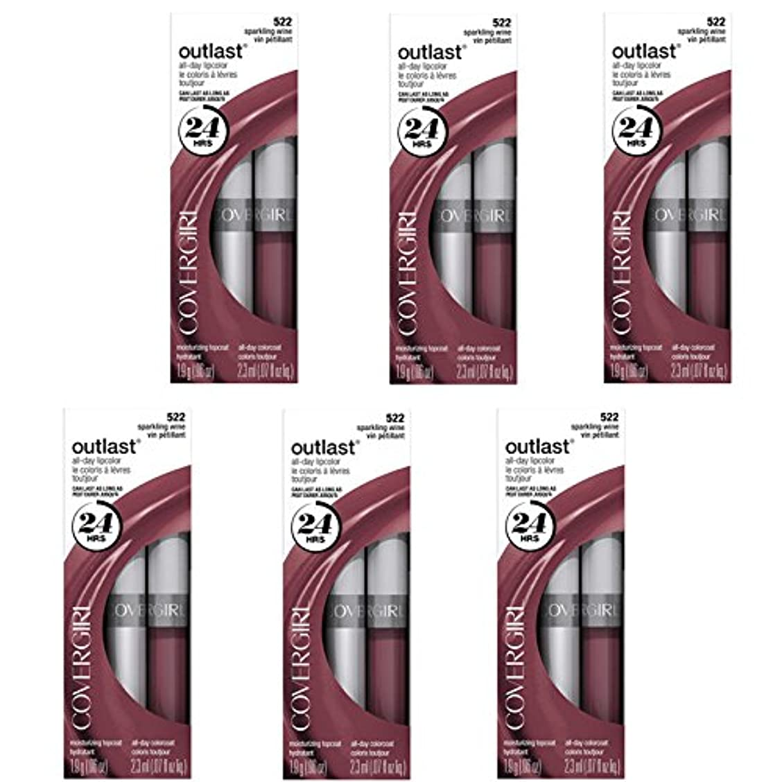 四マイナス免疫するCOVERGIRL Outlast All-Day Moisturizing Lip Color 522 Sparkling Wine, 6/set, Discontinued [並行輸入品]