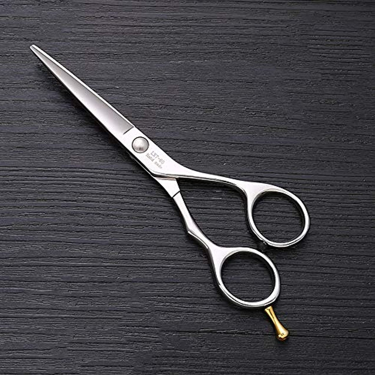 開示するシンプルなハント5.75インチの集中的な平らなせん断の理髪ステンレス鋼はさみ ヘアケア (色 : Silver)