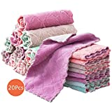 20Pcs Microfiber Cleaning Cloth Assorted Colors