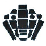 スバル(SUBARU) フォレスター SJ系用 2013-2015年 forester ノンスリップマット カップ マット インテリア マット ドリンクホルダー 滑り止め 収納スペース保護 ブルー 18pcs