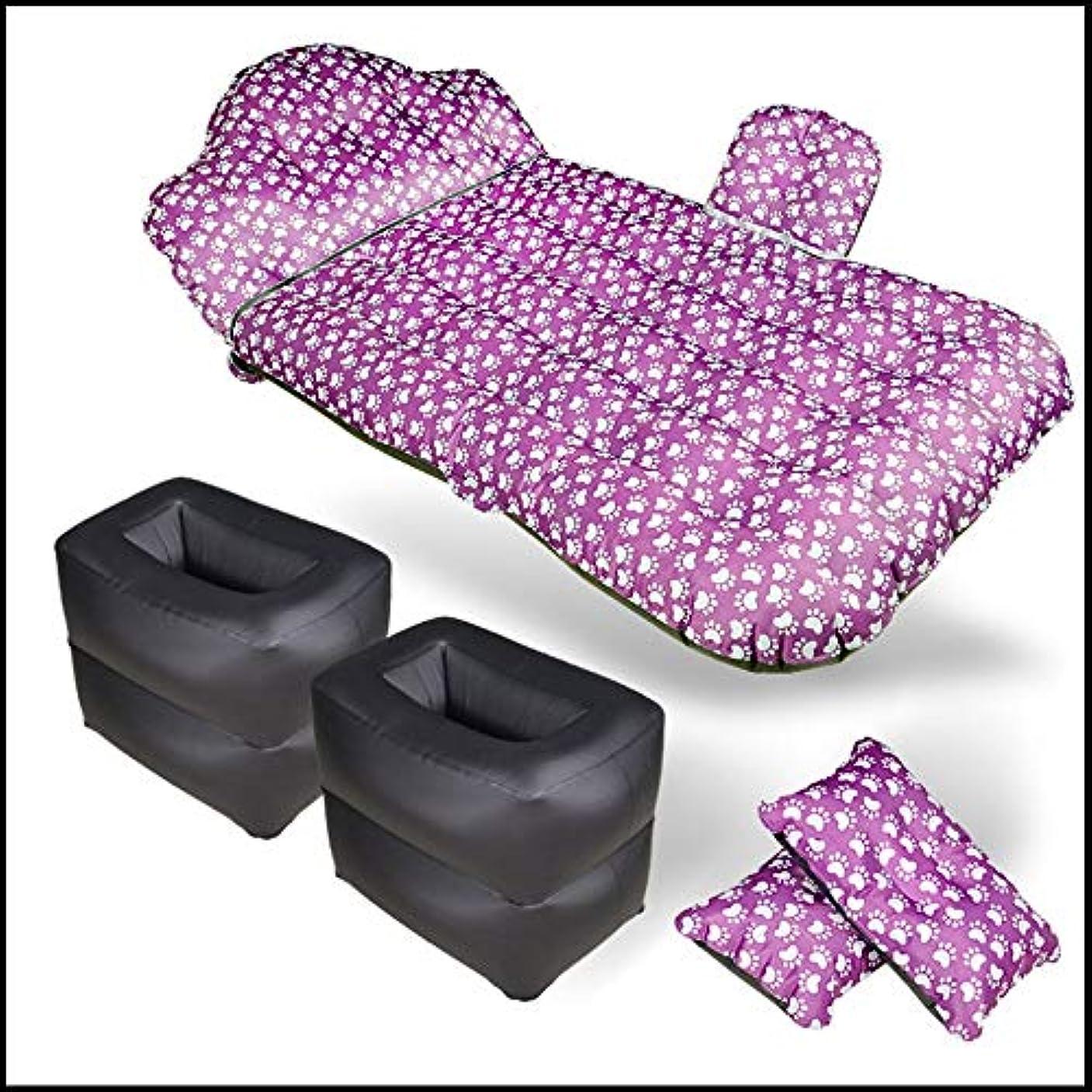 特徴づける粘土広告するZXK 車の自動運転の膨脹可能なベッド。後部屋外トラベルベッド。カーフロッキングエアマットレス。 丈夫 (色 : Multi-colored)