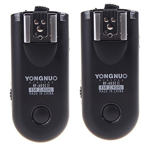 YONGNUO製 RF603CII-C3 第二世代 ワイヤレス・ラジオスレーブ 無線レリーズ キャノン用セット Canon 1D、50...