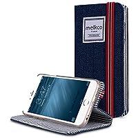 Apple Iphone 6S Plus/6 Plus Melkcoブックスタイルインディゴシリーズ手作りフリップケースホワイトグッド保護、スリム、プレミアム感触