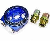 オイルブロック サンドイッチ オイルフィルター Oリング 油圧センサー 油温計センサー アダプター センターボルト アタッチメント M20×1.5 3/4UNF×16 1/8NP ブルー