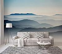 壁画 カスタム 壁紙 3D 中国 芸術的コンセプション 抽象風景 アート 壁画 リビングルーム 寝室 壁紙 60cm (H) X 80cm (W) 6931949206403