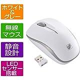 OHM マウス 無線2.4GHz帯使用 ワイヤレス IR静音マウス 静音設計 LEDセンサー搭載 PC-SMWIMS32 W ブラック&レッド